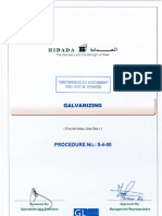 Galvanizing Procedure(5400)