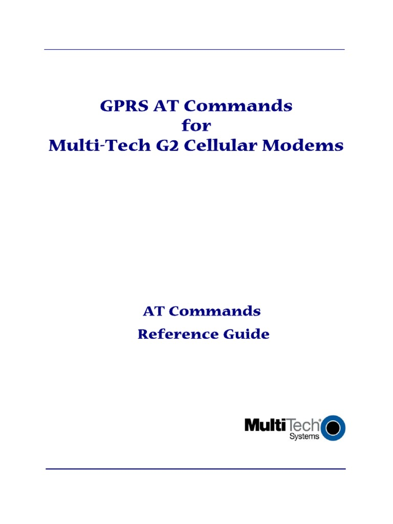 GPRS at Commands for Multi-Tech G2 Cellular Modems