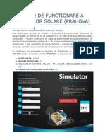 Simulare de Functionare a Panourilor Solare (Prahova)