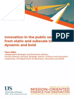 Innovation and the public sector