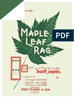 (Piano) Maple Leaf Rag - Scott Joplin -1909