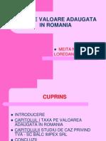 Taxa Pe Valoare Adaugata in Romania