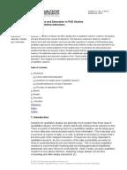 Parts of a qualitative research paper
