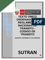 TUO Reglamento Nacional de Transito Peru Ds_016-2009-Mtc