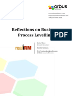 Reflections on Business Process Leveling