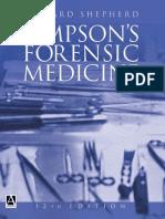 Simpson's Forensic Medicine 12th Ed. 2003