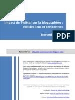 Impact de Twitter sur la blogosphère