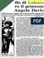 Appello Di Lukacs Per Angela Davis