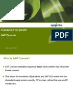 SAP Console Foundation