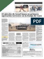El Ejército de Israel Lanza Su Primera Operación Terrestre en La Franja de Gaza