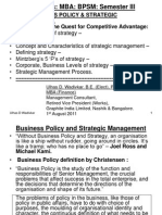 Business policy strategic management