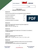 1 ESO -9- Polinomios - Ecuaciones - Problemas