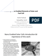Modeling Nano Enabled Elements of Solar and Fuel