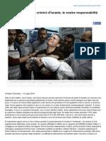 Znetitaly.altervista.org-Il Tormento Di Gaza i Crimini DIsraele Le Nostre Responsabilit