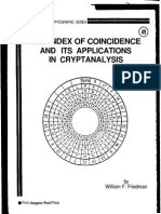 The Index of Coincidence and Its Application in Cryptonalysis