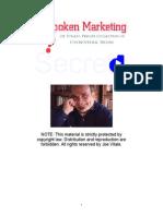 Unspoken Marketing Secrets 1345