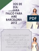 Vestidos de Fiesta Tamara Falcó Para Aire Barcelona 2013