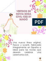 Vestidos de Novia Boda Civil Kiss by Bundo