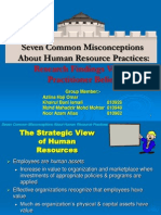 Seven Common Misconceptions About HR Practices