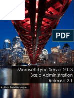Microsoft Lync Server 2013 - Basic Administration Release 2_1