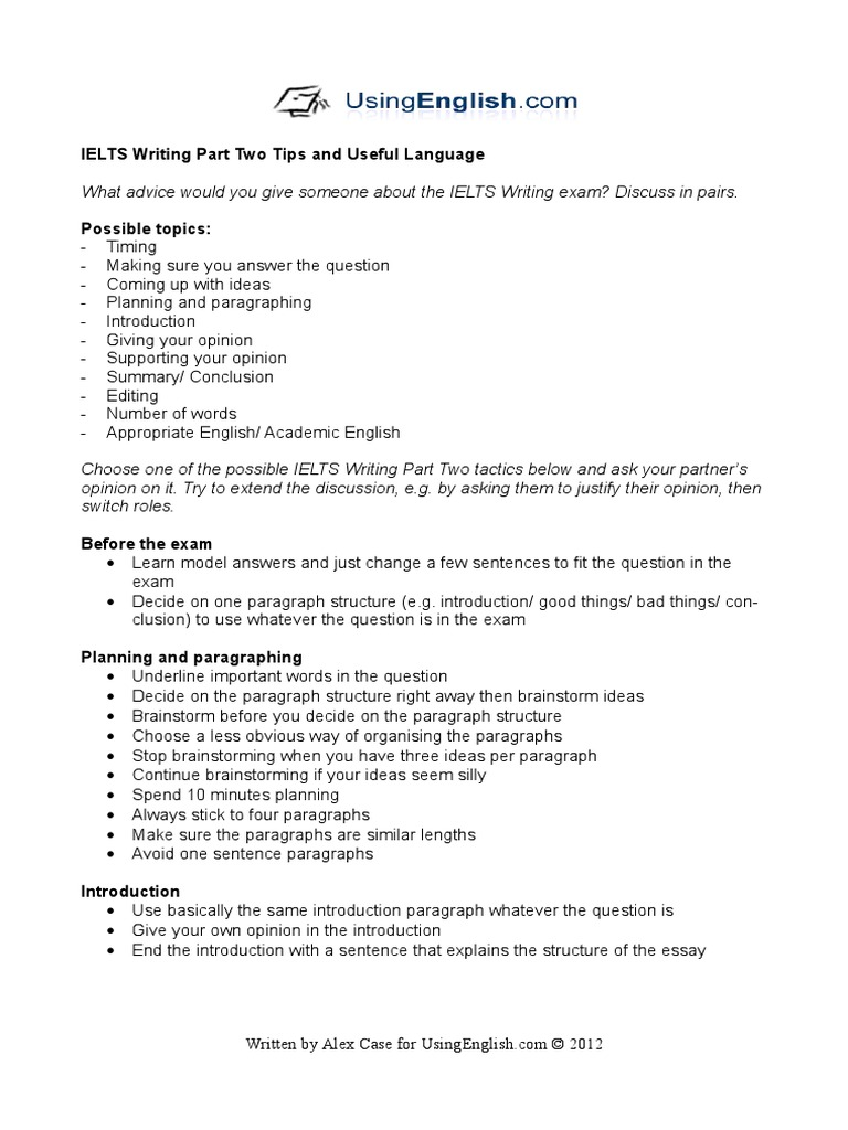 paragraph writing tips english