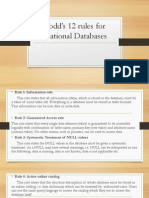 Codd's 12 Rules for Relational Databases