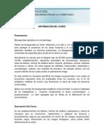 INFORMACION DEL CURSO Presentacion Del Curso