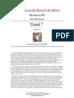 Elena de White - Comentarios Daniel 7