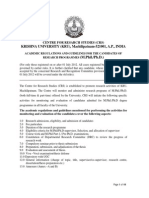 Revised Research Guidelines KRISHNA UNIVERSITY 2012 2013