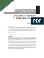 A Política Externa Dos Governos Kirchneristas (2003-2011) - Do Modelo Próprio Ao Mercosul