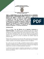 Tema 2. Ley Del Ejercicio de La Ingeniería, Arquitectuira y Profesiones Afines (1)