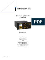 Vacuum Gauge Controller B-RAX 3100 Instruction Manual