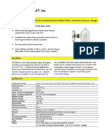 BA603 Hot Cathode Bayard-Alpert Glass Ionization Vacuum Gauge