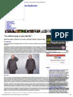 """""""La Cultura Pop Es Una Mierda"""" _ Revista Replicante"""