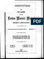 Constitution and by-laws London Masonic Mutual 1875