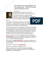 Mais Uma Entrevista Com Especialista Em Fraudes Norte Americana – Tracy Coenen