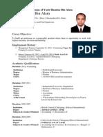 CV of Yasir Hasnine Bin Alam1