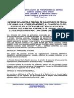 Acuerdos Parciales Negociacion Solitudes Fiscalia General de La Nacion