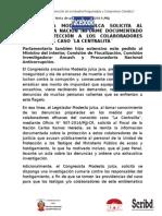 CONGRESISTA MODESTO JULCA SOLICITA AL FISCAL DE LA NACIÓN INFORME DOCUMENTADO SOBRE PROTECCIÓN A LOS COLABORADORES EFICACES DEL CASO ´LA CENTRALITA´