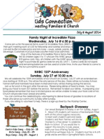 July & August 2014 Newsletter