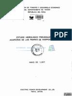 Estudio Preliminar Acuíferos Pampas y La Yarada