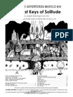 Advanced Adventures 10 the Lost Keys of Solitude