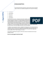 Risk Identification and Assessment Form