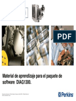 Manual de Aprendizaje Del Paquete de Software DIAG 1300 EDi PERKINS
