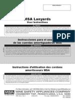 MSA Lanyards Instruction Manual - En MX-ES CA-FR