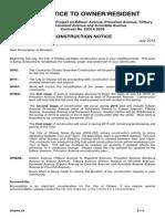 Construction Notice - Princeton - Edison