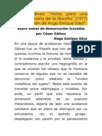 César Gálvez -Revista Demarcaciones -Notas Para Una Teoría Marxista de La Filosofía