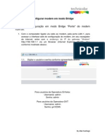 Configuração Bridge TD5130 Oi GVT