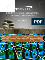 Role of Public Financial Management in Risk Management for Developing Country Governments