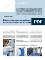 Article El Agua Ultrapura Proporciona Un Rendimiento Excelente en El Anaacutelisis Lc Ms